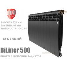Радиатор Royal Thermo BiLiner 500 Noir Sable 12 секций (черный)