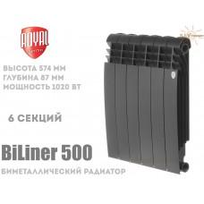 Радиатор Royal Thermo BiLiner 500 Noir Sable 6 секций (черный)