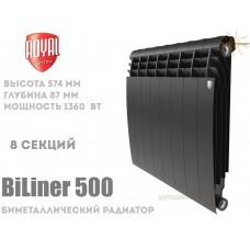 Радиатор Royal Thermo BiLiner 500 Noir Sable 8 секций (черный)