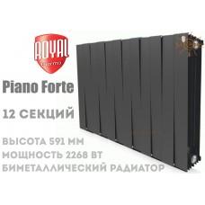 Радиатор Royal Thermo Pianoforte 500 Noir Sable 12 секций (черный)