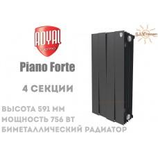 Радиатор Royal Thermo Pianoforte 500 Noir Sable 4 секции (черный)