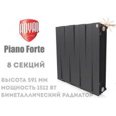 Радиатор Royal Thermo Pianoforte 500 Noir Sable 8 секций (черный)