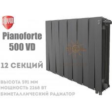 Радиатор Royal Thermo PianoForte 500 VD,12 секций (черный) нижний подвод