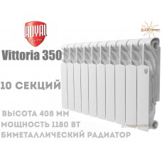 Радіатор Royal Thermo Vittoria 350 біметалічний 10 секцій