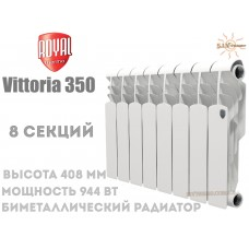 Радіатор Royal Thermo Vittoria 350 біметалічний 8 секцій