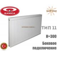 Радіатор сталевий Sanica 11 тип 300x700 бокове підключення