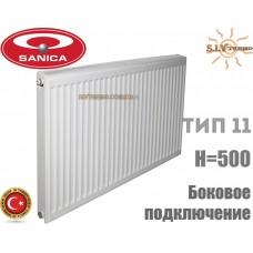 Радиатор стальной Sanica 11 тип 500x1200 боковое подключение
