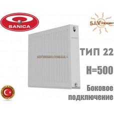 Радиатор стальной Sanica 22 тип 500x1200 боковое подключение