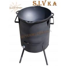 Печь под казан 6 литров (300 мм) съемная решетка, переносная