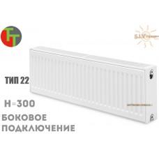 Радиатор стальной Terra Teknik 22 тип 300x800 боковое подключение