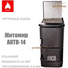 Котел твердотопливный Житомир АКТВ-14 с одной чугунной плитой