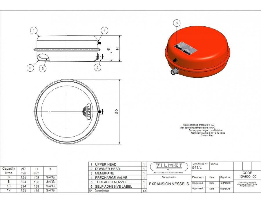 Zilmet   541/L-6  Zilmet OEM-Pro 6 литров  Интернет - Магазин SIVTERMO.COM.UA все права защищены. Использование материалов сайта возможно только со ссылкой на источник.