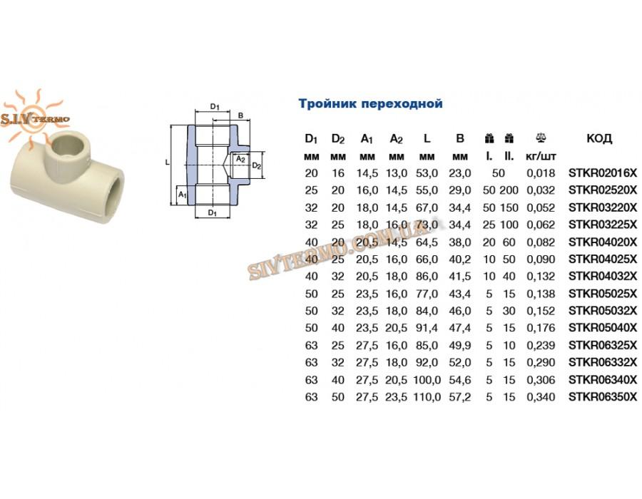 Wavin Ekoplastik  002737  Тройник переходн. 25x20x25  Интернет - Магазин SIVTERMO.COM.UA все права защищены. Использование материалов сайта возможно только со ссылкой на источник.